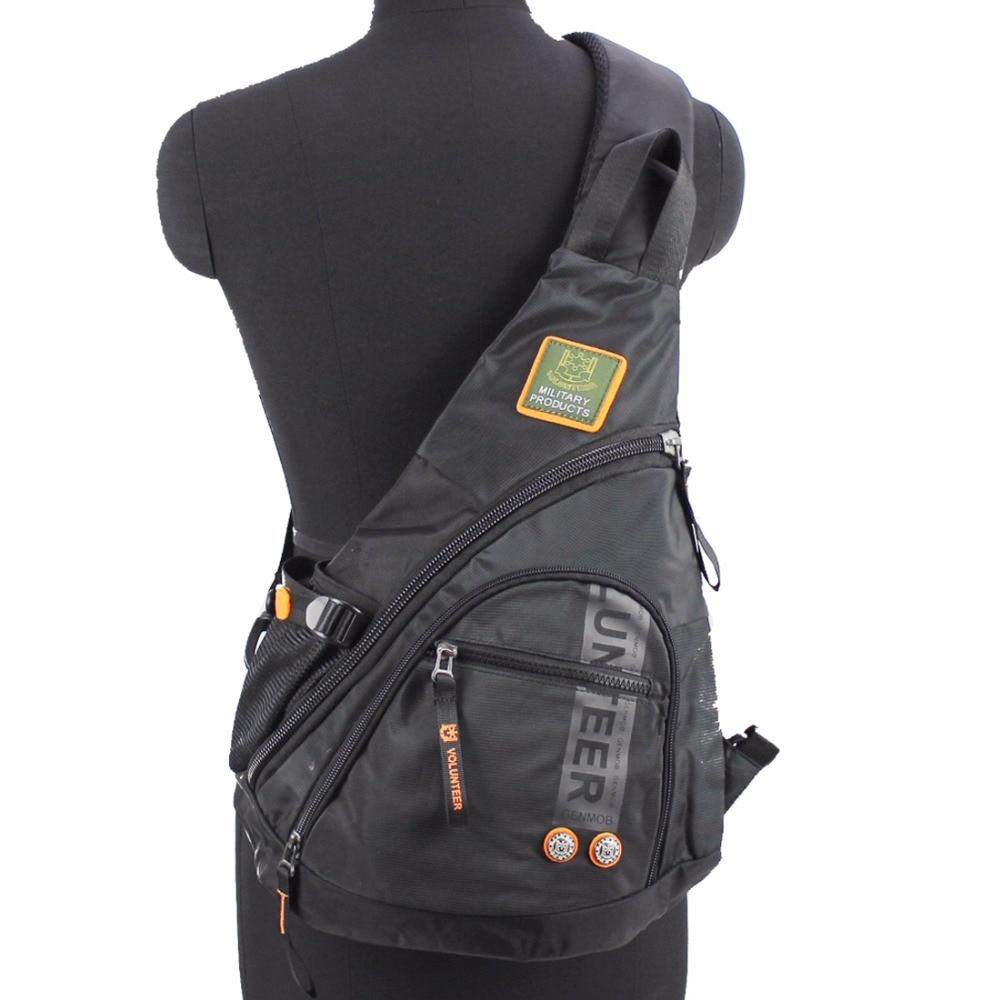 Waterproof Oxford Knapsack Messenger Travel Hiking Men Sling Chest Bag Back Pack